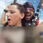 ELA DEU NAS ALTURAS AOS HOMENS DE BOA VONTADE : EUA descartam punição a casal que fez sexo em salto de paraquedas