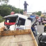 Três acidentes com dez veículos fecham trecho paraibano da BR-230, inclusive um deles é do vizinho Município de Riachão de Bacamarte