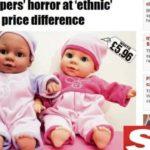PUTA MERDA INTÉ NISSO : Supermercado vende boneca negra mais barata do que similar branca