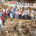 Produtores rurais fazem protesto em frente da agência do Banco do Nordeste de CG