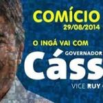 Ingá receberá Cassio e sua caravana em grande comício na noite de hoje (sexta 29)
