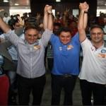 Efraim Morais e Efraim Filho oficializam apoio à candidatura de Lucélio Cartaxo para o Senado