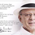 Missa de sétimo do ex-prefeito Luciano Agra será hoje na Igreja do Miramar