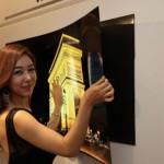LG cria painel OLED de 55 polegadas fino como um papel de parede