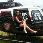 Selfiecóptero da PM volta à manutenção pela terceira vez e levanta a suspeita de que é mesmo uma sucata (Helder Moura)
