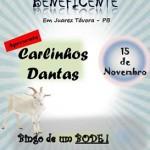 NO PROXIMO DIA 15/11, DOMINGUEIRA BENEFICENTE EM JUAREZ TÁVORA