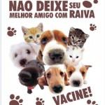 """INGÁ: SÁBADO (28) É O DIA """"D"""" DE VACINAÇÃO CONTRA A RAIVA ANIMAL"""