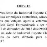 INDUSTRIAL ESPORTE CLUBE DE INGÁ (Convite)