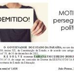 A PERSEGUIÇÃO POLITICA PASSOU POR MOGEIRO