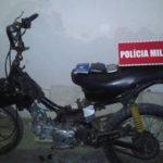 SUSPEITO AVISTA POLICIA E ABANDONA MOTO E CELULAR