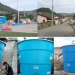 Prefeitura de Ingá instala caixas d'água em pontos estratégicos da cidade para enfrentar maior seca da história