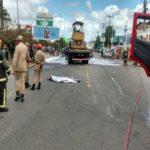 NESTE DOMINGO : Acidente deixa bandido morto e dois veículos incendiados em Campina Grande