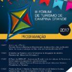 3º Fórum de Turismo de Campina Grande acontece no próximo sábado no Centro de Convenções Raymundo Asfora