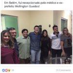 EX PREFEITO WELLINGTON GUEDES RECEPCIONA AMIGOS NO SÃO PEDRO DE BELÉM