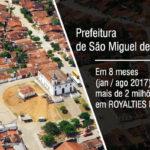 APRENDAM : Prefeitura de São Miguel de Taipu, recebeu mais de 2 milhões de reais, da ANP.
