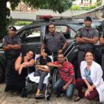 Fardado, garoto com câncer tem sonho realizado por policiais da ROTA