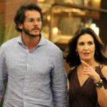 Fátima Bernardes aparece com namorado