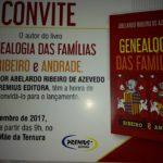 LIVRO SOBRE A GENEALOGIA DAS FAMÍLIAS RIBEIRO E  ANDRADE SERÁ LANÇADO DOMINGO, 17, NO MOSTEIRO MÃE DA TERNURA EM ITATUBA
