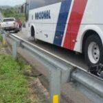 Acidente entre ônibus, moto e carro deixa um morto no municipio de Ingá