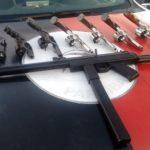 Polícia apreende 22 armas de fogo durante ações e operações da sexta-feira na Paraíba