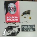 POLICIAL : Ação conjunta das policias civil e militar detém suspeitos e apreende armas