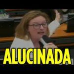 UM PORTEIRO PRO PUTEIRO :Maria do Rosário vai à loucura ao ver cartaz do Escola Sem Partido durante comissão