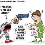 O BRASIL QUE EU NÃO QUERO : Estudante é aprendido por agredir diretora a socos dentro de escola