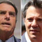 Bolsonaro lidera primeira pesquisa com 58% contra 42% de Haddad