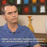 VEJA AQUI A ENTREVISTA QUE BOLSONARO DEU A RECORD EM PARALELO A GLOBO ( Video)