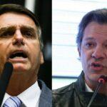 Bolsonaro tem 57% e Haddad, 43%, diz Ibope