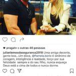 Pâmela afirma que Julian deve gratidão aos colegas e que só Bolsonaro decide cargos (veja fotos)