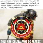 ATENÇÃO INGÁ ! VAGAS ABERTAS PARA O CURSO DE BOMBEIRO CIVIL