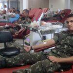 Exército participa de mobilização do Hemocentro para doação de sangue