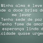 BOM DIA MEDITANDO : Minha Alma está em Brisa (Arioldo Oliveira)