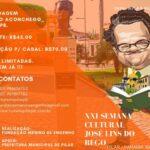 Semana Cultural José Lins do Rego, tem programação divulgada