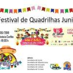CONVITE: Festival de Quadrilhas Juninas neste sábado (15) no Ginásio O Carlão em Ingá, às 18 h