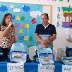 Manoel da Lenha envia à Câmara Municipal projeto de Plano Municipal de Saneamento Básico e entrega Kits de incentivo a leitura em projeto de educação