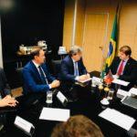 Em audiência com ministro, João Azevêdo e Wilson Santiago colocam como prioridade recursos para finalização da barragem de Cupissura