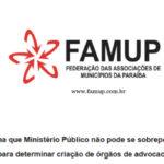 CARTA: Prefeitos paraibanos e entidades defendem Eleições unificadas em 2022 devido à pandemia da covid-19