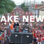FAKE NEWS: Veneziano e aliados de RC divulgam imagem falsa sobre ato SOS Transposição, em Monteiro