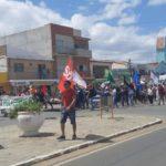 SOS Transposição se torna ato político com manifestações de Lula Livre e esvazia evento em Monteiro