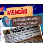 ATENÇÃO ALUNOS E EX ALUNOS DO COLEGIO E INTERNATO TIMBAUBENSE