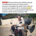 ATENÇÃO AMIGOS DE INGÁ !!! ROUBARAM A MOTO DO IRMÃO
