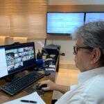 Em videoconferência com o ministro da Saúde, João Azevêdo solicita leitos de UTIs e registro de respiradores fabricados pela UEPB