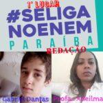 Se Liga no Enem PB divulga resultado do primeiro bimestre do 2º Concurso de Redação, Estudante Ingaense 1° lugar em redação na Paraíba.