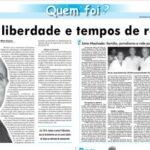 Jornal destaca em caderno especial trajetória do jornalista e ex-deputado Jório Machado