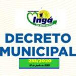 Decreto Municipal proíbe em Ingá fogueiras e comercialização de fogos juninos devido à pandemia