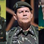 """Bolsonaro e Generais Mourão e Azevedo: """"Forças Armadas não aceitam julgamentos políticos"""""""