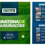 EM ITATUBA A PREFEITURA PROGRAMA MARATONA DE INAUGURAÇÕES