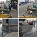 INGÁ: SEINFRA agiliza conserto de cano estourado no centro da cidade